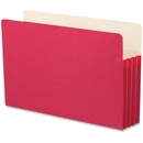 Smead 74231 Red Colored File Pockets, Legal - 8.50