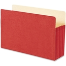 Smead 74241 Red Colored File Pockets, Legal - 8.50