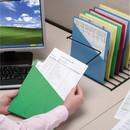 Smead 75432 Green Slash Jackets, Letter - 8.50