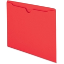 Smead 75509 Red Colored File Jackets, Letter - 8.50