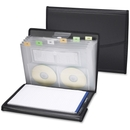 Smead 85830 Black Poly Pro Series II Pad Folio with Expanding File, Letter - 8.50