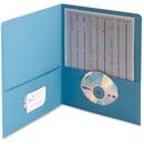 Smead 87852 Blue Two-Pocket Heavyweight Folders