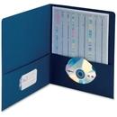 Smead 87854 Dark Blue Two-Pocket Heavyweight Folders