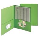 Smead 87855 Green Two-Pocket Heavyweight Folders