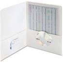 Smead 87861 White Two-Pocket Heavyweight Folders, 0.50