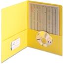 Smead 87862 Yellow Two-Pocket Heavyweight Folders, 0.50