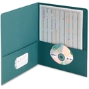 Smead 87867 Teal Two-Pocket Heavyweight Folders, 0.50