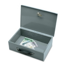 Sparco All-Steel Insulated Cash Box, Steel - Gray - 3.8