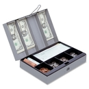 Sparco Steel Combination Lock Cash Box, 6 Coin - Steel - Gray - 3.2