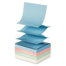 Sparco SPR19851 Sparco Fanfold Pop-up Adhesive Pastel Note Pads, Pop-up, Solvent-free Adhesive, Fanfold, Repositionable - 3