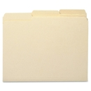 Sparco 1/3 Cut Recycled Manila File Folders, Letter - 8.50