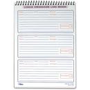 TOPS Message Log Book, 50 Sheet(s) - Spiral Bound - 3 Part - 6