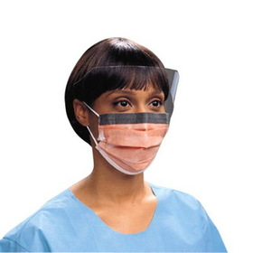 Unimed-Midwest Pleat-style Mask, 25 / Box - Orange, Price/BX