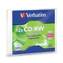 Verbatim 95161 CD Rewritable Media - CD-RW - 12x - 700 MB - 1 Pack Slim Case, Verbatim 95161 CD Rewritable Media - CD-RW - 12x - 700 MB - 1 Pack Slim Case