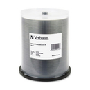 Verbatim 95256 CD Recordable Media - CD-R - 52x - 700 MB - 100 Pack Spindle, Inkjet Printable