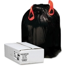 Webster Drawstring Trash Liner, 33 gal - 1.20 mil (30 Micron) Thickness - Resin - 150/Box - Black