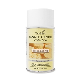 TimeMist WTB812200TMCA TimeMist Yankee Candle Air Freshener, Aerosol - 6000 ft? - 6.60 oz - Butter Cream - 30 Day, Price/EA