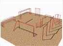 SportsPlay 511-200P 9 Unit Course w/Jr. Horizontal Ladder - Painted