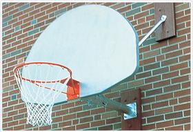 SportsPlay 531-601 Wall Mounted Basketball Backstop - 1' Overhang