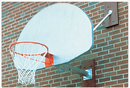 SportsPlay 531-602 Wall Mounted Basketball Backstop - 2' Overhang