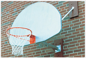 SportsPlay 531-606 Wall Mounted Basketball Backstop - 6' Overhang