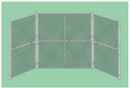 SportsPlay 551-210 Prefabricated Baseball/Softball Backstop