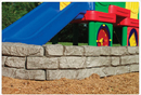 SportsPlay 902-517 4' Stone Border Timber - Straight Section