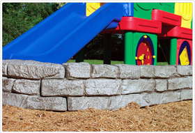SportsPlay 902-518 4' Stone Border Timber - Curved Section