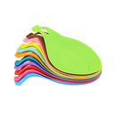 Aspire Multicolor Silicone Spoon Rest Heat Resistant Kitchen Utensil Flexible Cooking Tool Set of 4