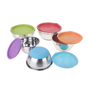 Aspire Stainless Steel Mixing Bowls Set of 5 with Lids, Measure Guide and Eva Bottom Kitchen Favors
