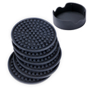 Aspire Set of 6 Silicone Coasters with Holder Furniture Protect Cup Mats Kitchen Party Accessories