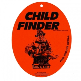 Streetwise Security Products CF Child Finder Fire Rescue Decal with Suction Cup