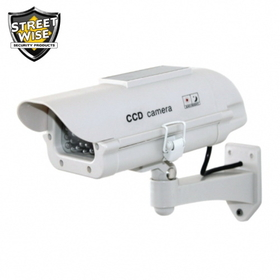 Streetwise Security Products SWDC7SP Dummy Camera in Outdoor Housing W Solar Powered Light