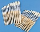 White Bristle School Brushes