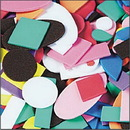 Color Splash! Foam Shapes w/ Adhesive, 1,100 pcs.