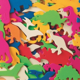 Color Splash oam Shapes w/ Adhesive - Dinosaurs, 600 pcs., Price/per pack