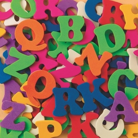 Color Splash! Foam Shapes w/ Adhesive - ABCs, Price/per pack