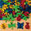 Color Splash! Foam Shapes w/ Adhesive - Bugs and Butterflies, 400 pcs.