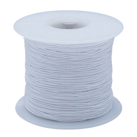 S&S BE630X White Elastic Cord 100yd - Medium