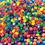 Neon Vowel Beads 1/2-lb Bag