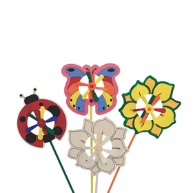 Butterfly, Flower and Ladybug Pinwheels (pk/12), Price/per pack