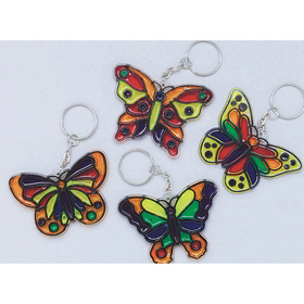 Butterfly Sun Catcher Key Chain (pk/12), Price/per pack