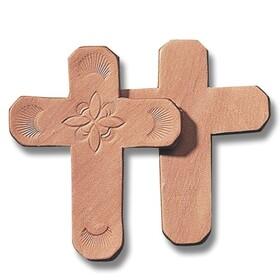 "Leather Shape 4"" - Cross (pk/25), Price/per pack"