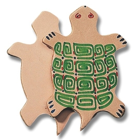 "Leather Shape 3"" - Turtle (pk/25), Price/per pack"