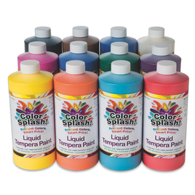 32-oz. Color Splash! Liquid Tempera Paint Assortment (pk/12), Price/per pack