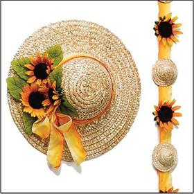 "14"" Straw Hats (pk/6), Price/per pack"