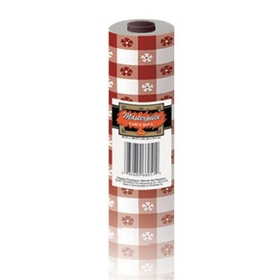 "Plastic Tableroll 40""x100"" - Red Gingham, Price/each"