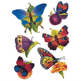 Butterfly Window Clings, Price/per set