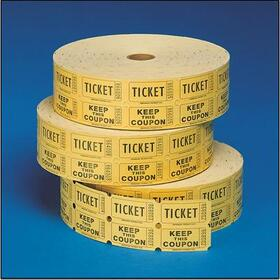 Double Roll Tickets (2000/roll), Yellow, Price/per roll