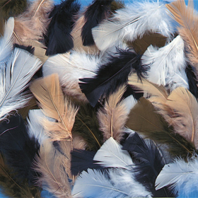 Natural Feathers, 14g (150/bag), Price/per bag